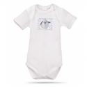 Lait Baby Organic Body Short Sleeve Tweet the Bird Blue