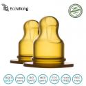 Eco Viking Antykolkowy Ortodontyczny Smoczek Hevea Stage 1 dla Noworodków 2 PACK