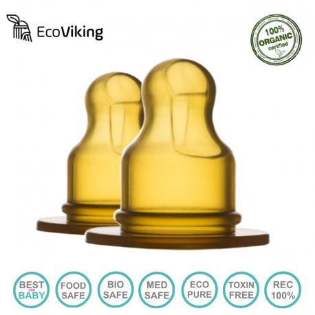 Eco Viking Antykolkowy Ortodontyczny Smoczek Hevea