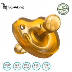 Eco Viking Anatomiczny Smoczek Uspokajający Hevea wiek 12m+