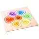 organic woodboon FLOWER SHAPES Kolorowy Kwiatek Puzzle Układanka Edukacyjna 5