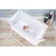 Little Chick London Crib White Oddychające łóżeczko dostawne 2