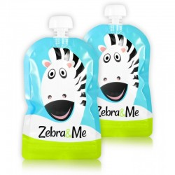 Zebra & Me ZEBRA - 2 PACK Saszetki do karmienia wielorazowe