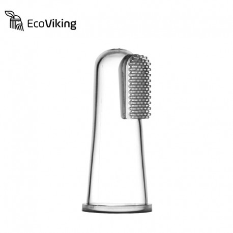Eco Viking Medyczna szczoteczka silikonowa do mycia ząbków na palec