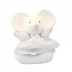 Meiya & Alvin - Meiya Mouse Soft Rattle with Organic Teether Head