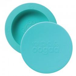 oogaa Jewel Blue Bowl & Lid silikonowa miseczka z pokrywką