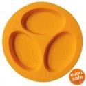 oogaa Orange Divided Plate silikonowy talerzyk trójdzielny