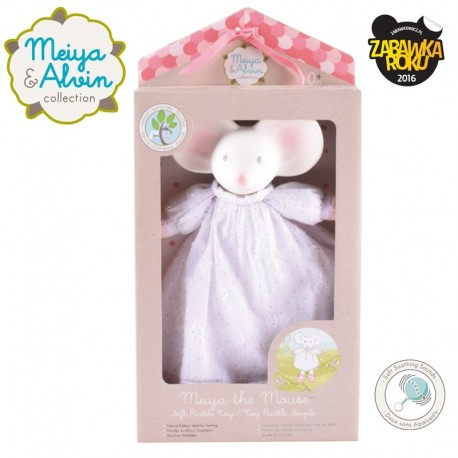 Meiya & Alvin - Meiya Mouse Doll Rattle with Organic Teether Head zwycięzca konkursu ZABAWKA ROKU 2016