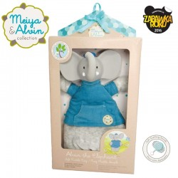 Meiya & Alvin - Alvin Elephant Doll Rattle with Organic Teether Head zwycięzca konkursu ZABAWKA ROKU 2016