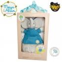Meiya & Alvin - Alvin Elephant Doll Rattle with Organic Teether Head