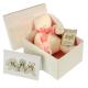 Maud N Lil Rose the Bunny Soft Organiczny Mięciutki Przyjaciel w pudełeczku