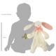 Maud N Lil Rose The Bunny Comforter Organiczny Mięciutki Pocieszyciel wielkość