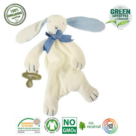 Maud N Lil Oscar The Bunny Comforter Organiczny Mięciutki Pocieszyciel