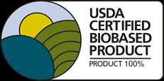 Certyfikat poświadczający 100% udział roślin zielonych użytych do produkcji gryzaka Bioserie Teether