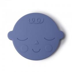 Mushie - Gryzak silikonowy FACE Blueberry