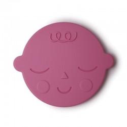 Mushie - Gryzak silikonowy FACE Bubblegum