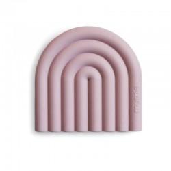 Mushie - Gryzak silikonowy RAINBOW Mauve