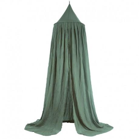 Jollein - Moskitiera baldachimowa nad łóżeczko niemowlęce Vintage ASH GREEN 245 cm