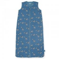 Jollein - Śpiworek niemowlęcy letni Summer GIRAFFE Jeans Blue 90 cm