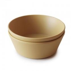 Mushie - 2 miseczki Round Mustard