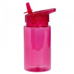 A Little Lovely Company - Bidon transparentny ze składanym ustnikiem GLITTER Pink