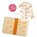 A Little Lovely Company - Śniadaniówka Lunchbox Tęcza z naklejkami