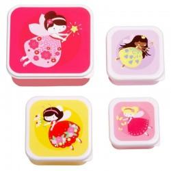 A Little Lovely Company - 4 Lśniące Lunchboxy śniadaniówki WRÓŻKI