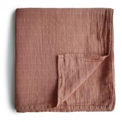 Mushie - otulacz kocyk letni 100% organic cotton Tawny Birch