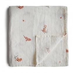 Mushie - otulacz kocyk letni 100% organic cotton Flowers