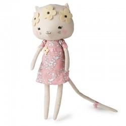 Picca LouLou - Przytulanka Panna Kotek Kitty w kawietnym wianku 33 cm