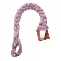 Hi Little One - warkoczykowa zawieszka do smoczka Pacifier holder Lavender Light