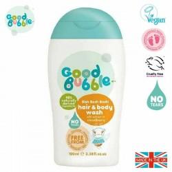 Good Bubble Wegański organiczny żel do mycia włosów i ciała Noworodka i Niemowlaka Cloudberry 100 ml
