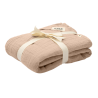 BIBS Kocyk letni 100% GOTS organic cotton 120 x 120 Blush