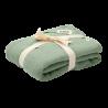 BIBS Kocyk letni 100% GOTS organic cotton 120 x 120 Sage