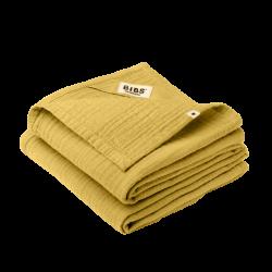BIBS 2 pieluszki 100% GOTS organic cotton 70 x 70 Mustard
