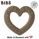 BIBS BABY BITIE HEART Dark Oak gryzak dla niemowlaka