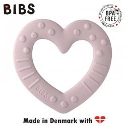 BIBS BABY BITIE HEART Pink Plum gryzak dla niemowlaka