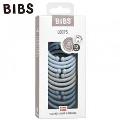 BIBS LOOPS 12-PACK - BABY BLUE & CLOUD & PETROL