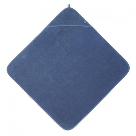 Jollein - Ręcznik kąpielowy z kapturem 75 x 75 cm FROTTE JEANS BLUE
