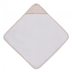 Jollein - Ręcznik kąpielowy z kapturem 75 x 75 cm SNAKE PALE PINK