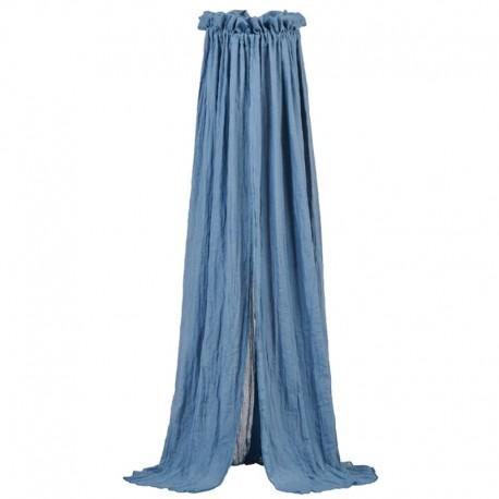 Jollein - Moskitiera woalowa nad łóżeczko niemowlęce Vintage JEANS BLUE155 cm