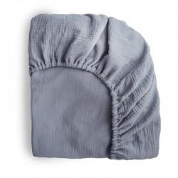 Mushie - prześcieradło do łóżeczka 120 x 60 cm Breathable Cotton Tradewinds
