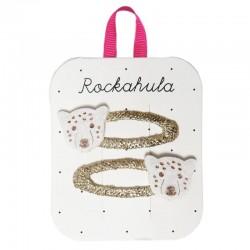 Rockahula Kids - 2 spinki do włosów Lily Leopard