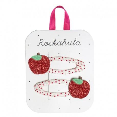 Rockahula Kids - 2 spinki do włosów Rosy Apple