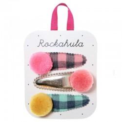 Rockahula Kids - 3 spinki do włosów Happy Days Pom Pom