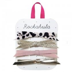 Rockahula Kids - 4 spinki do włosów Lily Leopard Skinny Bow Set