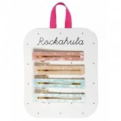 Rockahula Kids - 4 spinki do włosów Retro Acrylic Bar Pastel