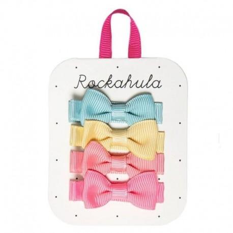 Rockahula Kids - 4 spinki do włosów Happy Days Mini Bow