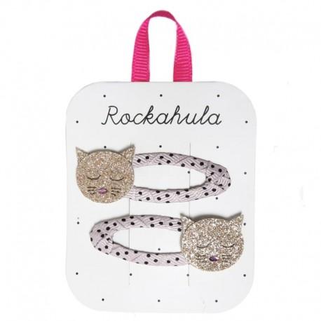 Rockahula Kids - 2 spinki do włosów Cleo Cat