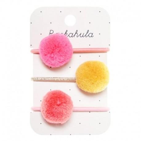 Rockahula Kids - 3 gumki do włosów Happy Days Pom Pom